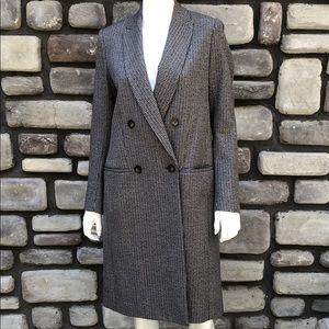 Wool Plaid Trench Coat Theory EUC sz M